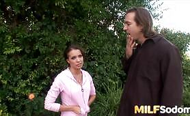 MILF Vanessa Lane Anally Plowed Outdoors