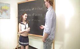 Brandi jerking off boys in class